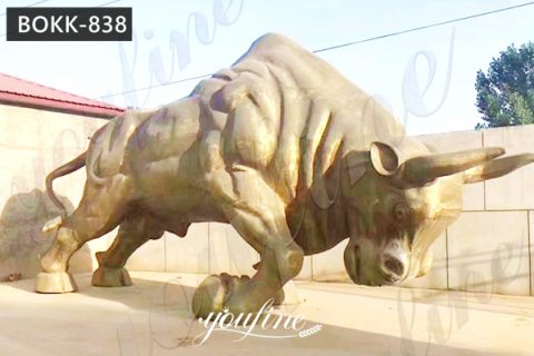 Park Decor Bronze Wall Street Bull Replica for Sale BOKK-838