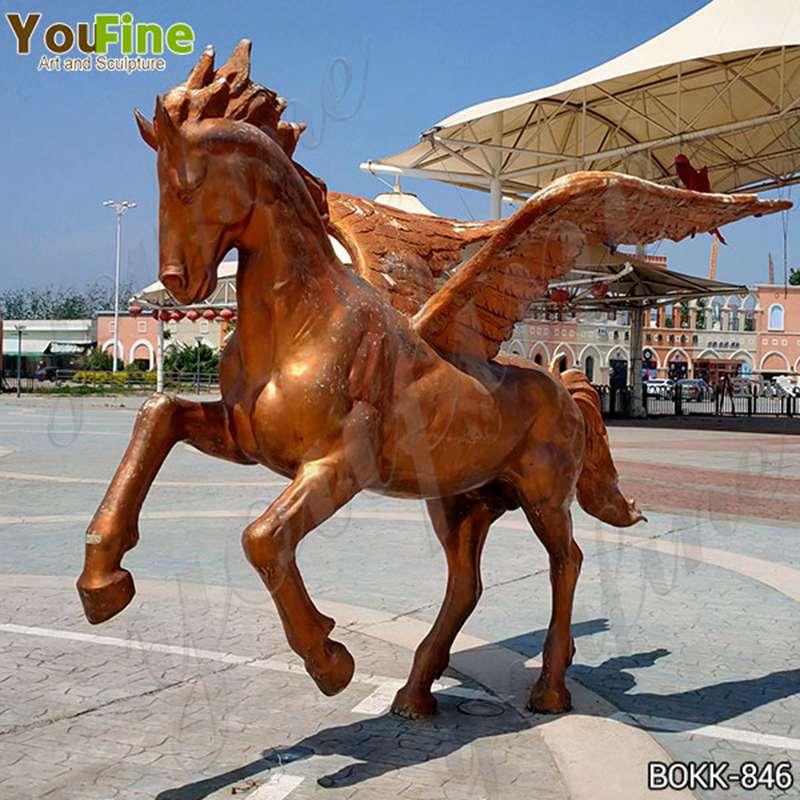 Square Decor Bronze Pegasus Statue for Sale BOKK-846