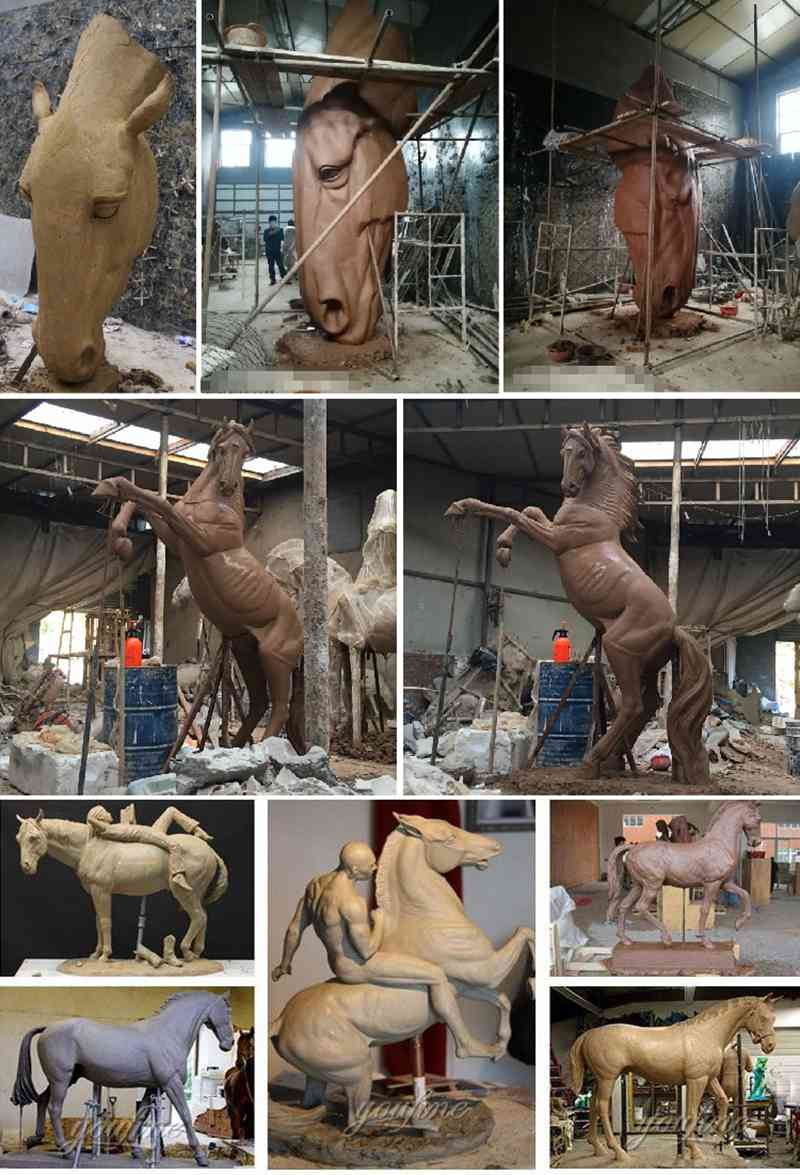 Square Decor Bronze Pegasus Statue for Sale Clay Molds