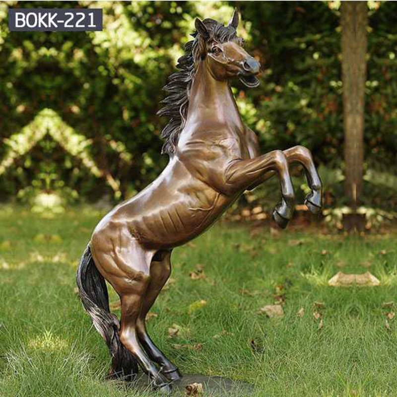 Large Outdoor Antique Bronze Horse Statue for Sale BOKK-221