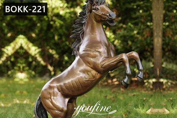Large Outdoor Antique Bronze Horse Statue for Sale BOKK-221