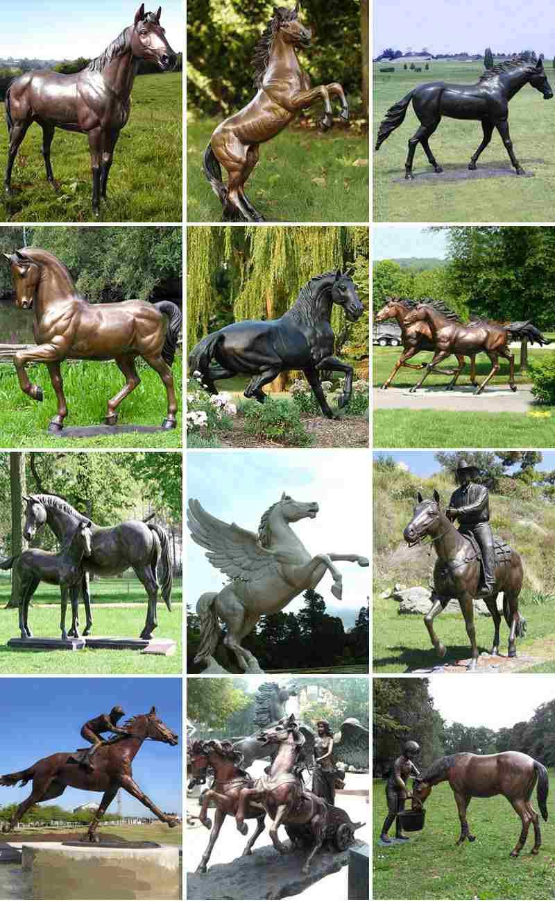 Life Size Vintage Bronze Horse Statue for Sale BOKK-664 More Designs