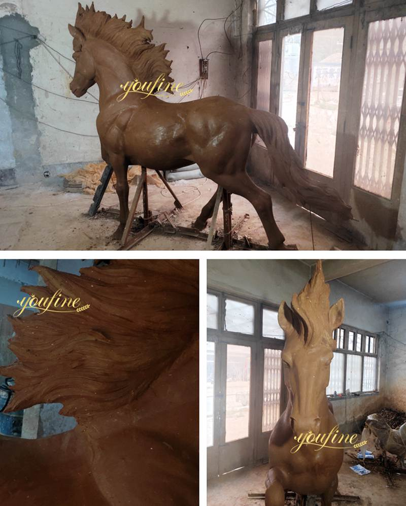 Life Size Vintage Bronze Horse Statue for Sale Clay Molds