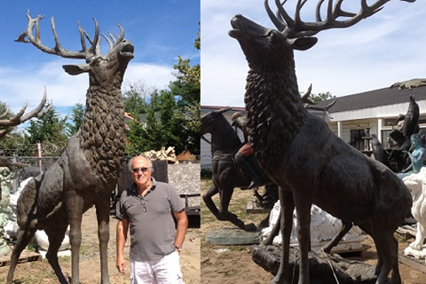 Outdoor Giant Elk Statue Bronze Garden Deer for Sale