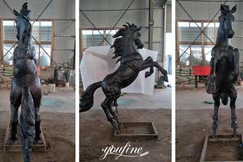 Outdoor Life Size Bronze Horse Statue Racecourse Decor for Sale