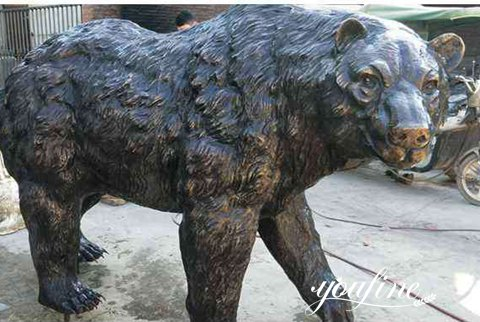 Outdoor Life Size Bronze Grizzly Bear Statue for Sale BOKK-818