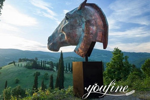 Nic Fiddian Giant Bronze Horse Head Sculpture for Sale BOKK-905