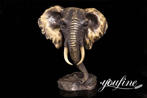Antique Bronze Elephant Head Statue Home Decor for Sale BOKK-402