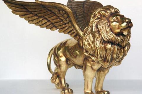 Life-size Vintage Bronze Winged Lion Statue for Sale BOKK-249