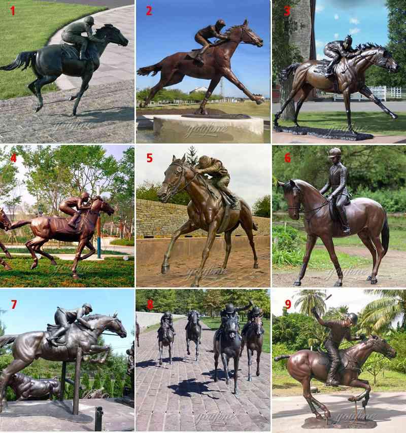 bronze horse garden statue
