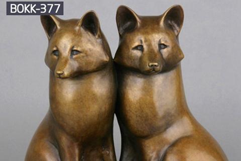 Outdoor Abstract Twins Bronze Fox Statue Garden Decor from Factory Supply BOKK-377