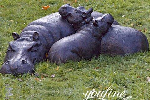 Life Size Bronze Hippo Sculpture for Garden for Sale BOKK-979
