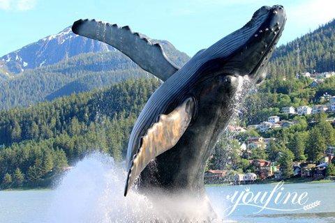 Fine Cast Bronze Whale Sculpture Outdoor Decor for Sale BOKK-983