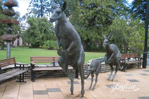 Life Size Bronze Kangaroo Family Sculpture for Sale BOKK-990