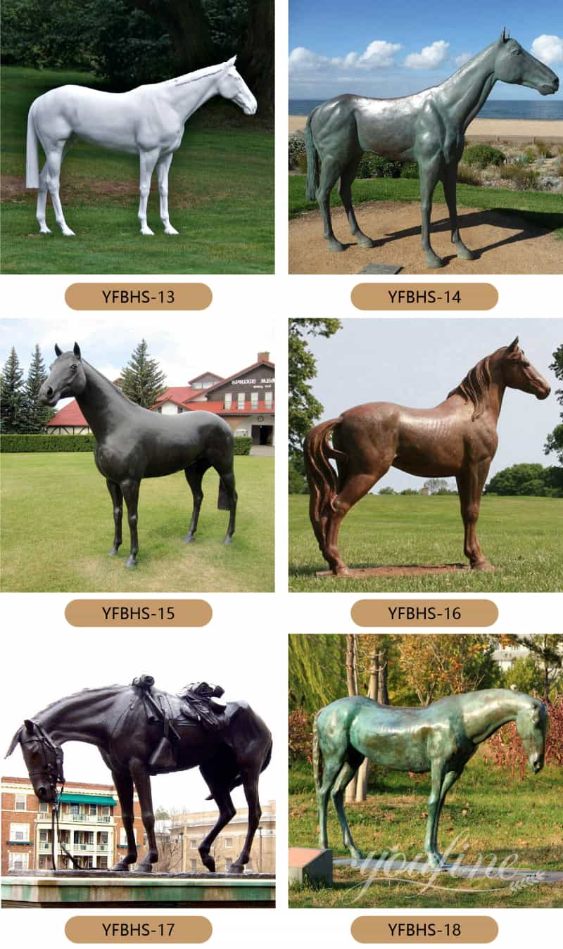 horse statue bronze