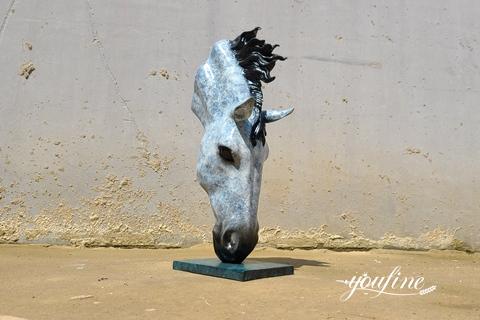Antique Bronze Horse Head Statue Still Water for Sale BOK1-005