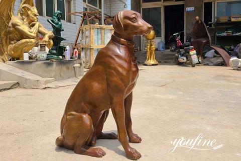 Fine Cast Bronze Dog Statue Garden Decor for Sale BOK1-006