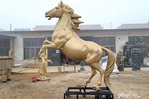 Fine Cast Life-size Bronze Horse Statue for Sale BOKK-998