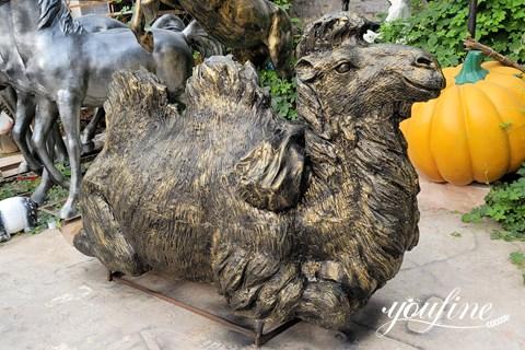 Antique Life Size Bronze Camel Sculpture for Sale BOK1-014