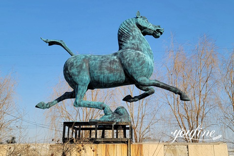 Fine Cast Bronze Horse Sculpture Garden Decor for Sale BOK1-009