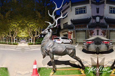 Garden Decor Bronze Deer Statue from Factory Supply BOK1-012