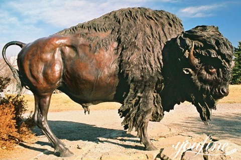 High Quality Bronze Bison Statue for Sale BOKK-506